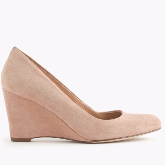 J. Crew Shoes - J.Crew Nude Suede Wedges